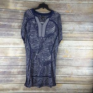 Nic + Zoe dress blue size large sleeveless